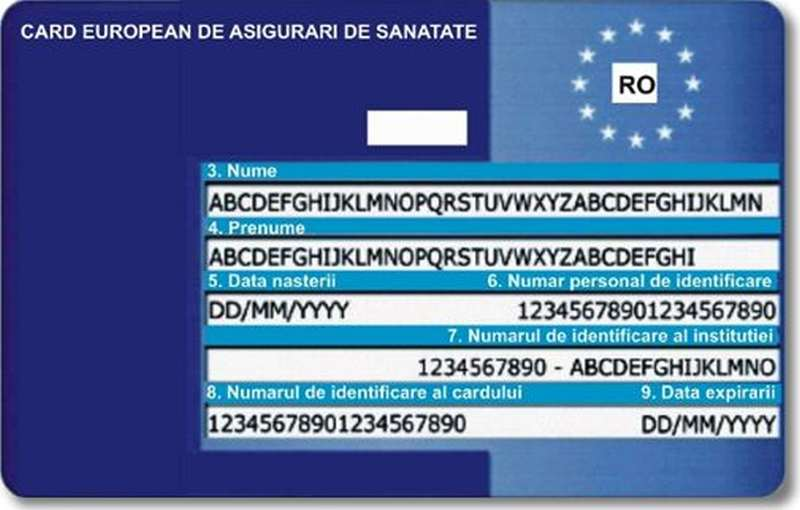 Card european sanatate